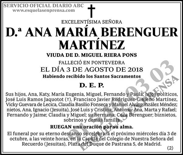 Ana María Berenguer Martínez